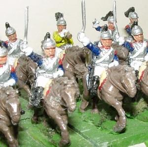 Cuirassiers du 7ème régiment Figurines Essex 15mm